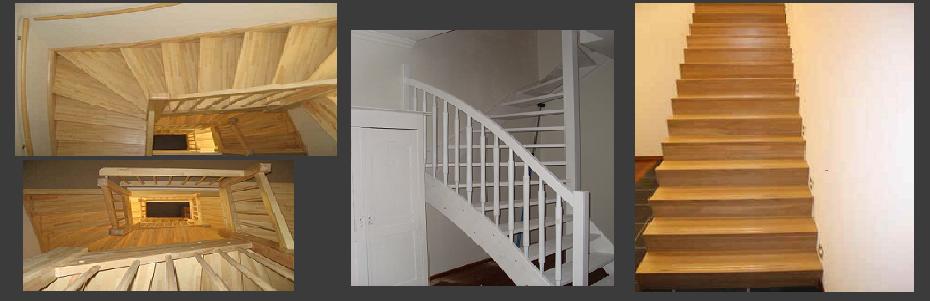 Houten trappen binnen bouwmaterialen - Trap ijzer smeden en hout ...